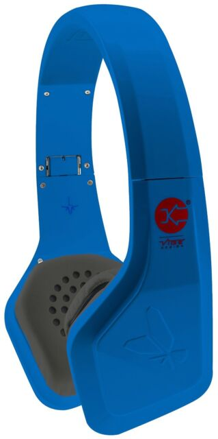 Vibe FLI Over-Ear Headphones with In-Line Microphone/Mic - Blue NEW RRP £49.99