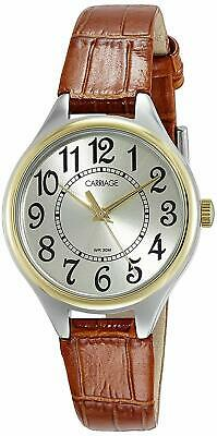 Timex Carriage Women's C3C401 Two-Tone Brown Croco Leather Strap Watch