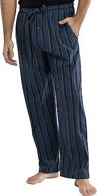 INTIMO Mens Printed Striped Pajama Sleep Pants, Navy, XL