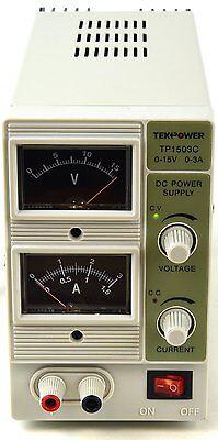 Tekpower Tp1503c 15v 3a Linear Dc Power Supply Analog Display