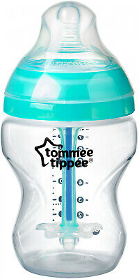 1 New Tommee Tippee Closer to Nature 9oz Baby Bottle 0m+ Ant