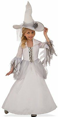 White Witch Costume Kids (White Witch Sorceress Wizard Good Wicked Fancy Dress Up Halloween Child)
