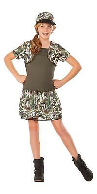 Rubies Young American Heroes 'Army Brat' Girls Child Costume Size Small 4-6