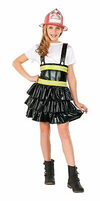 Firefighter Girl Fire Fighter Chief Fancy Dress Up Halloween Child Costume](Fire Girl Costume Halloween)