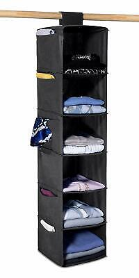 Hanging Sweater Organizer 6 Shelves with Six Side Pockets Clothing -
