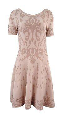 Beige Kleid Hose (Ivanka Trump Damen GRÖSSE S Kurzärmlig Schlaghose Pullover Beige Kleid 2091-3)