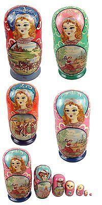 Matroschka Matryoshka 19 cm 7 Pieces Handicraft Russian Doll Babuschka