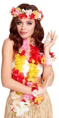 Damen Deluxe Tropisch Hawaii 4Pc Blumenmuster Luau Kostüm - Tropische Kostüme