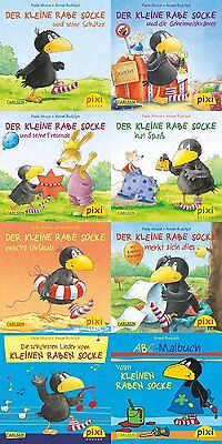 8 Pixi Bücher Der kleine Rabe Socke  + BONUS