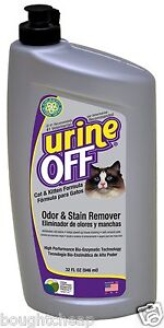 Urine Off Odour and Stain Remover for Cats and Kittens 946ml, Free Shipping, New