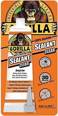 Gorilla Glue 8090001 100 Percent Silicone Sealant Caulk 2.8 Oz. Clear