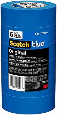 3m Blue 2090 1.41 In. X 60 Yd. Scotch Painters Tape Value Pack-6 Pack