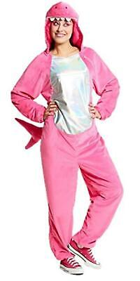 """Hyde and EEK! Adult Women's Hot Pink Shark Jumpsuit Costume (Large 42""""-44"""")"""