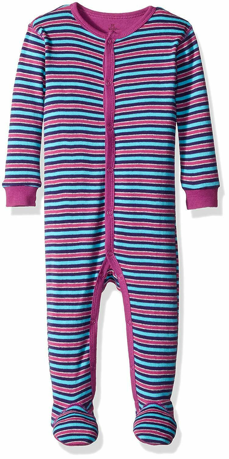 Petit Lem Baby Boys' Cat Footed Pajamas, 3M
