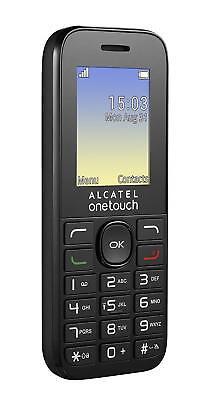 Alcatel One Touch 10,16g  Schwarz , Weiß, Einfach und Billig, Ohne Vertrag ()