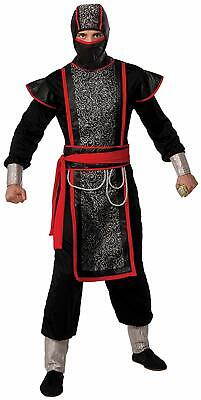 Asian Halloween Costumes Adults (Ninja Master Asian Martial Arts Warrior Fancy Dress Up Halloween Adult)
