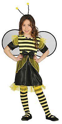 Biene Mädchen Kostüm (Kostüm Biene Kinder Mädchen - Biene Kostüm Kinder mit Flügel 10202-10205)