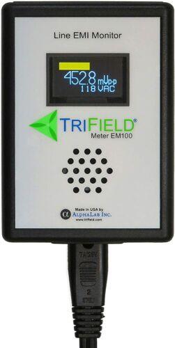 Trifield EM100 Dirty Electricity Meter EMI Power Line Noise Analyzer OPEN BOX