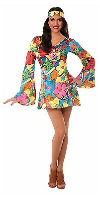 Hippie 60s Groovy Go Go Dress Adult Costume - 60s Hippie Costume