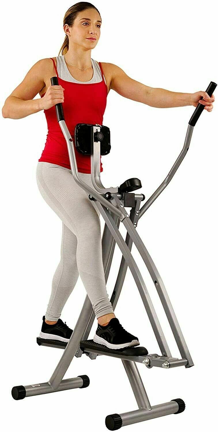 Air Walk Trainer Elliptical Machine Glider w/LCD Monitor