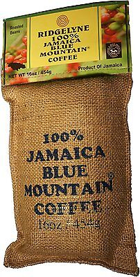 ridgelyne 100 percent jamaica low-spirited mountain coffee organic roasted beans 16 oz