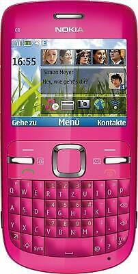 BRAND NOKIA C3-00 PINK UNLOCKED PHONE - BLUETOOTH - 2 MP CAMERA - FM RADIO-USA