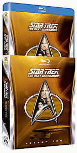 LOW $ Star Trek The Next Generation  Season 2 Blu-ray Disc, 2012, 5 Disc Set NEW