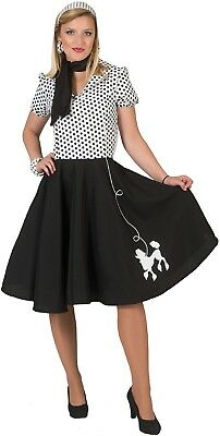 50 S Outfits (Ladies 1950s 50s Poodle Skirt Dress TV Film Fancy Dress Costume Outfit 10-14)