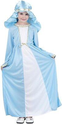 Mädchen Jungfrau Maria Geburt Weihnachten Weihnachtskostüm Outfit 4-12yrs Jahre