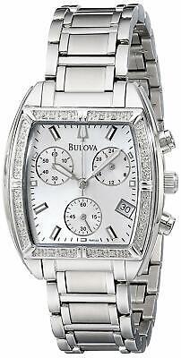Bulova Women's Quartz Diamond Accents Chronograph Multi Dial 31mm Watch 96R163