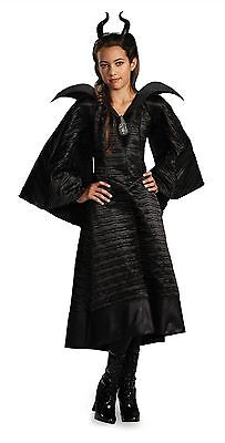 Disney Maleficent Taufe Schwarz Abendkleid Kinder Deluxe Film Kostüm Cosplay M-L ()