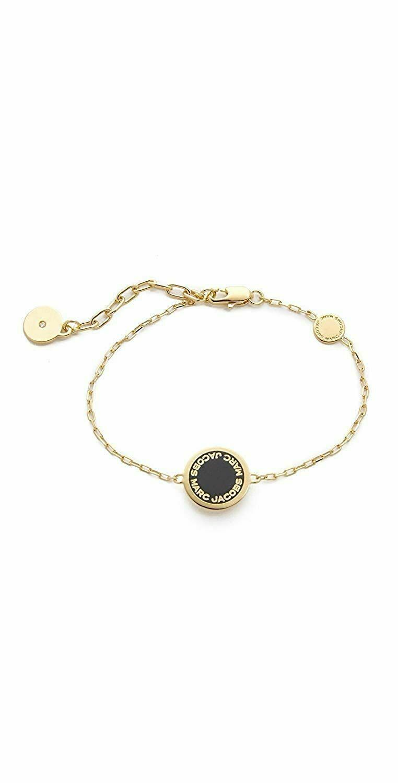 enamel disc bracelet black