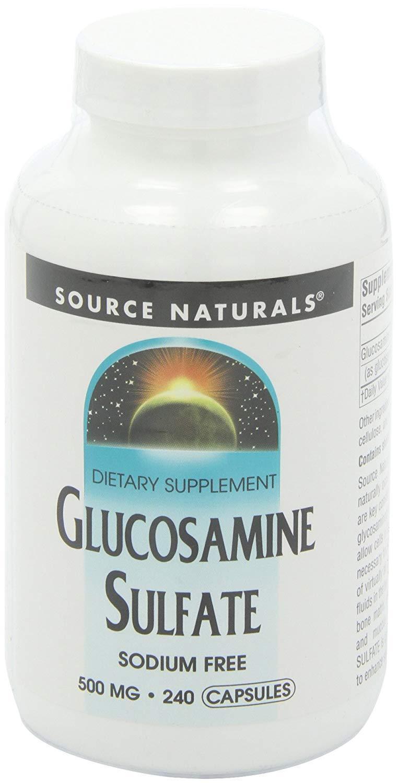 SOURCE NATURALS GLUCOSAMINE SULFATE 500 MG SODIUM FREE, 240