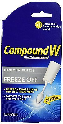Compound W Freeze Off Wart Removal System For Common And Or Plantar Warts  8 App