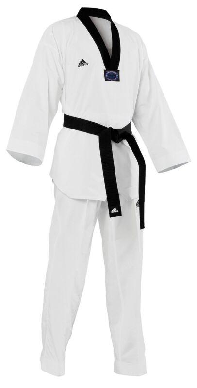 adidas Taekwondo Martial Arts Uniform Dobok Black-V Neck