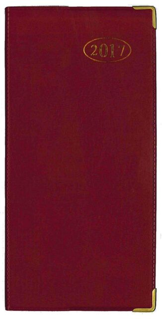TALLON 2017 WEEK TO VIEW RED SLIMLINE BUSINESS / OFFICE DIARY- 3634 RED