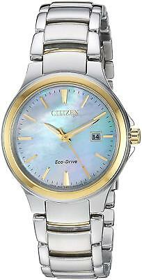 Citizen Eco-Drive Chandler Women's Mother of Pearl Dial 30mm Watch EW2524-55N  ()
