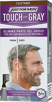 Just For Men Touch Of Grey Hair Colour Dark Brown T45 40G Packaging May Vary