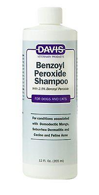 Davis Benzoyl Peroxide Cat Dog Pet Shampoo 12 oz. 355ml