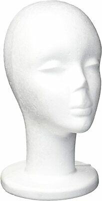Female 12 Tall Styrofoam Mannequin Wig Head Display Hat Cap Wig Holder White