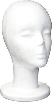 Female 12 Tall Foam Mannequin Wig Head Display Hat Cap Wig Holder White