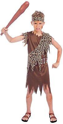 Jungen Prähistorisch Höhlenmensch Karneval Halloween TV Ausgefallenes - Junge Höhlenmensch Kostüm
