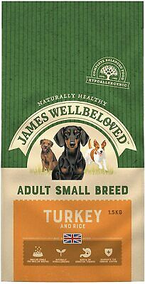 James Wellbeloved Complete Dry Adult Small Breed Dog Food Turkey and Rice 1.5 kg