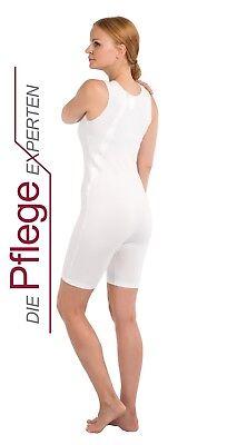 4696 Pflegebody mit schrägem Rückenreißverschluss Body für Sie und Ihn OHNE ARM