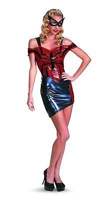 Disguise Women Of Marvel Spider-Girl Glam Costume, Blue/Red/Black, - Red Spider Girl Kostüm