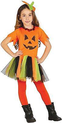 Calabaza Halloween Disfraz (Niñas Bonita Calabaza Halloween Terror Bonito Disfraz 5-12 Años)