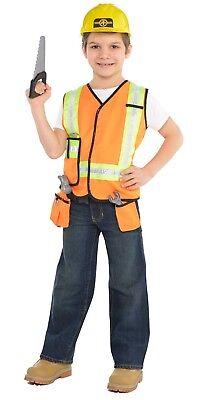 en Bauherr Bauarbeiter 7 Stück Kostüm Set (Jungen Bauarbeiter Kostüm)