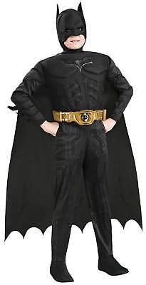Batman Begins Deluxe mit Muskeln Kinder Karneval Fasching Kostüm - Batman Begins Kostüm Kinder