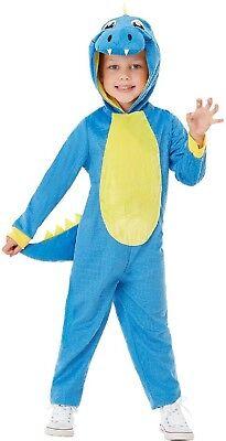 Kleinkind Jungen Mädchen Blau Dinosaurier Tier Tv Film Film Kostüm Kleid Outfit