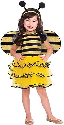 Girls Toddler Little Honey Bee Animal Insect Book Day Fancy Dress Costume Outfit